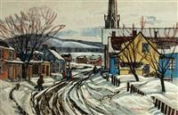 village church, winter by paul rodrik