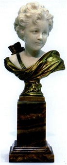 bust modelled as cupid by a. leonard