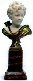 bust modelled as cupid by a. leonard