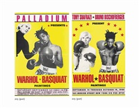 warhol/basquiat, paintings, shafrazi gallery, new york, 14 september - 19 october, 1985 (2 works) by jean-michel basquiat and andy warhol