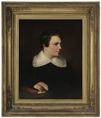 portrait of a boy with book by george esten cooke