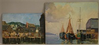 harbor view (+ another; 2 works) by robert shaw wesson