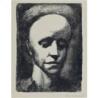 autoportrait ii. pl. pour georges charensol, rouault by georges rouault