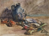 still life with vegetables by karl papesch