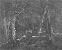 civil war skirmish in the forest by john francis edward hillen