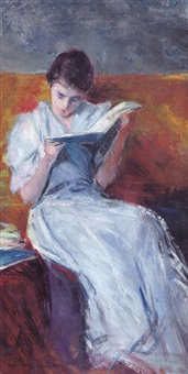 dama in lettura by pietro scoppetta