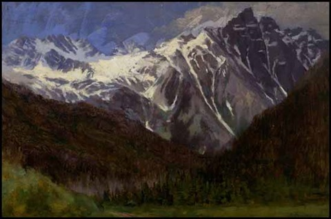 in the selkirk range by william brymner
