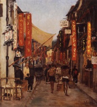 rue animée en chine by jacques anger