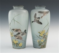 vases (pair) by jubei ando