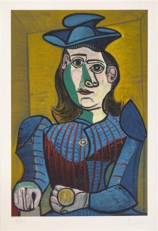 Buste de Femme au Chapeau Bleu Dora Maar by Pablo Picasso on artnet