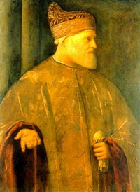 portrait of doge andrea gritti by vincenzo catena