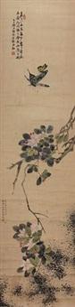 花蝶图 by liang ruozhu