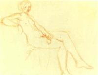 sitzender weiblicher akt by hans böhler