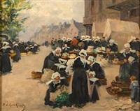 le marché de concarneau by fernand marie eugène legout-gérard