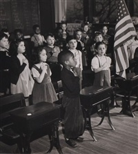 classroom pledging allegiance by esther bubley