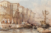 the palace of saïd pasha, on one of the rapids of the bosphorous by thomas allom