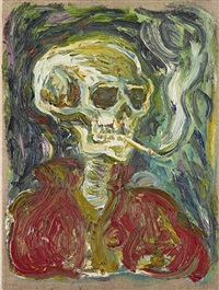 skull by billy childish