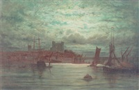rochester by moonlight by adolphe ragon