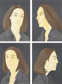 ada four times series (set of 4) by alex katz