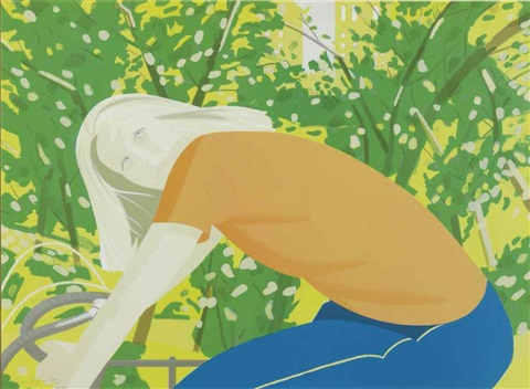 bicycle rider by alex katz