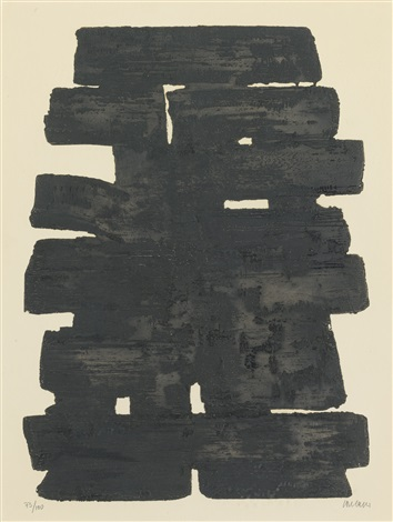 eau forte no 11 eau forte no 13 2 works by pierre soulages