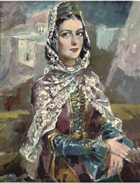 tcherkesse woman by halil-bey mussaijassul