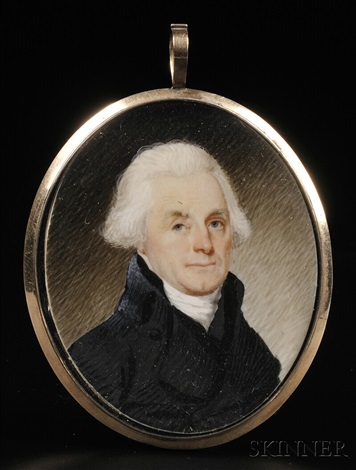 portrait miniature of thomas jefferson by robert field