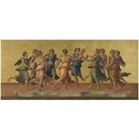 apollo and the muses (after baldassare peruzzi) by azzolino fottini