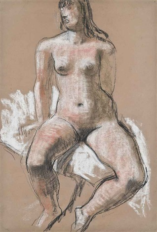 seated nude by frank dobson