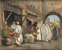marché au maroc by jules matthey de l'etang