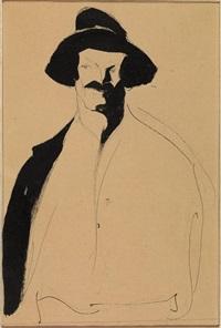 figura di uomo con cappello by lorenzo viani