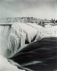 american falls from luna island by platt d. babbitt