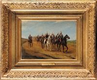 les cuirassiers en campagne. iiiè république by paul emile léon perboyre