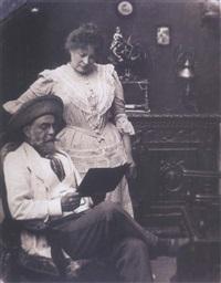 portrait de jenne rozerot en compagnie d'alfred bruneau by emile zola