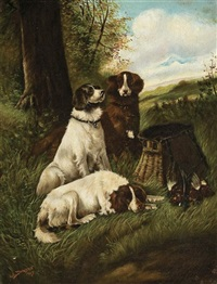 three retrievers by lilian lucy davidson