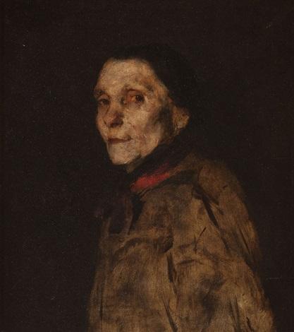 damenportrait by wilhelm maria hubertus leibl
