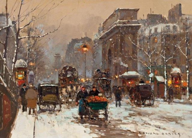 porte st denis paris by edouard léon cortès