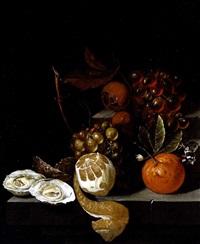 stillleben mit südfrüchten, austern und weintrauben by david cornelisz heem iii