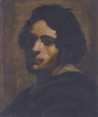 head of a young man, probably a self-portrait by italian school-roman (17)