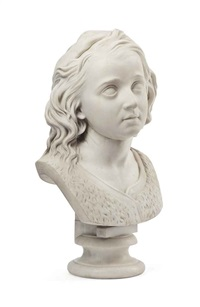 bust of a girl by john hutchison