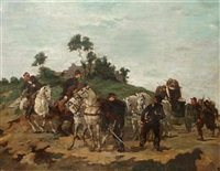 cavalry rendezvous by lucien pierre sergent