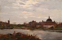 dutch landscape by willem maris