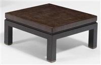 table basse épais plateau by jules wabbes