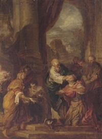 saint paul restoring the sight of ananias by françois (le moine) le moyne