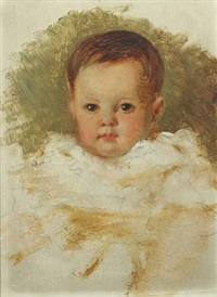 child's portait (study) by karl friedrich johann von müller