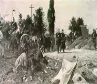 il generale bismarck visita le truppe by f. g. koch