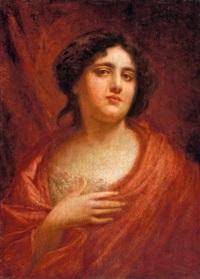 női portré by bertalan székely von adámos