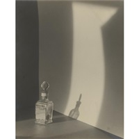 composition with perfume bottle by jaromir funke