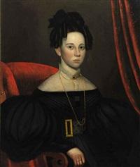 portrait of a lady in a black dress by john sherburne blunt