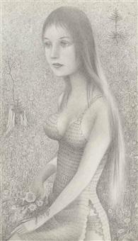 mädchen in der blumenwiese by robert angerhofer